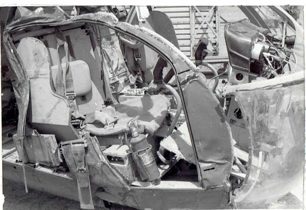 Crashed scout helicopter