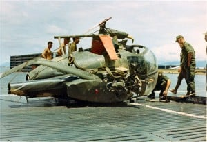 crashed loach helicopter