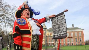 Royal Herald heralding a royal proclamation