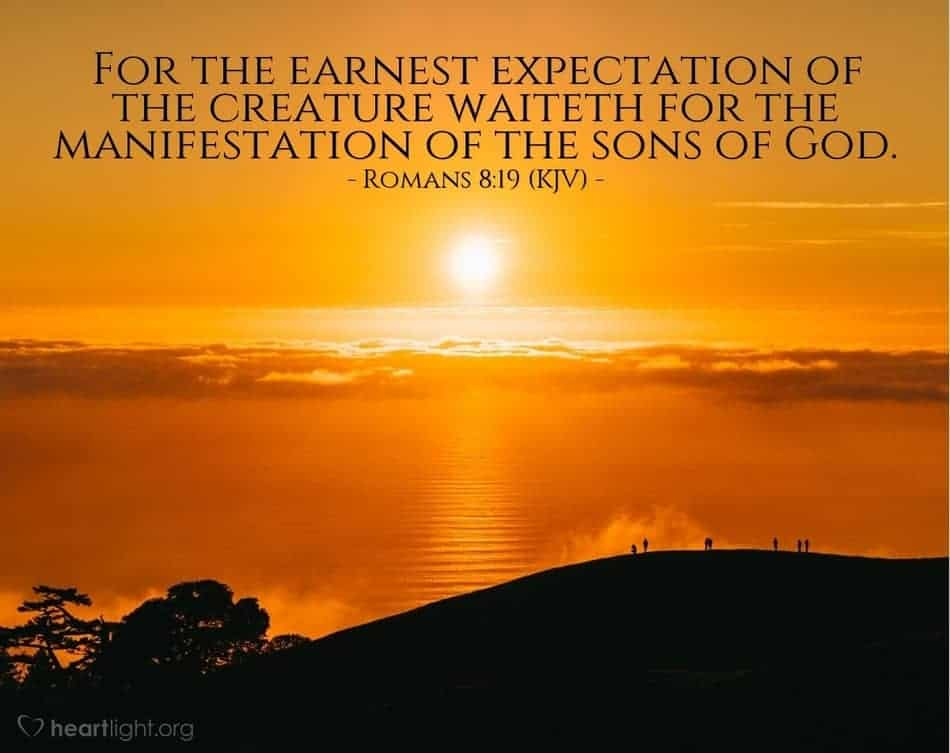 Manifestation of the sons of God during Pentecost